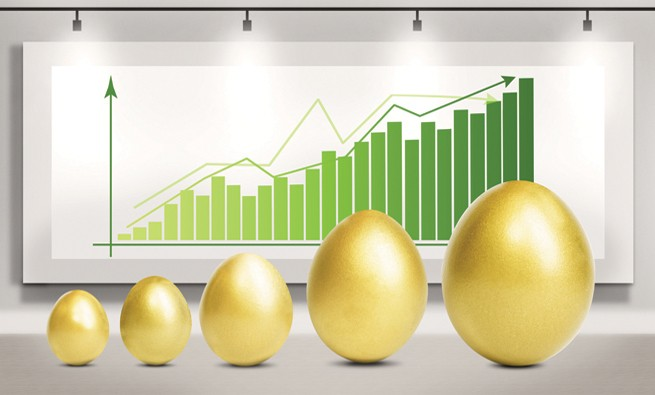 Profit growth eggs chart