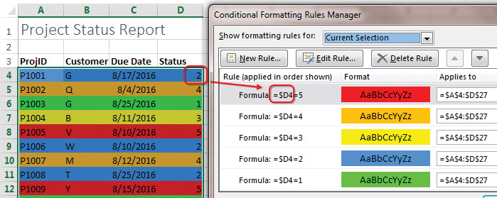 Excel: Color-Coding Values - Strategic Finance