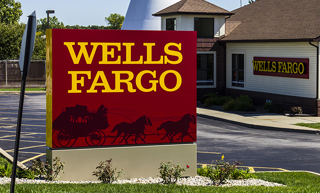 Ft. Wayne, US - September 19, 2016: Wells Fargo Retail Bank Branch. Wells Fargo is a Provider of Financial Services  XI