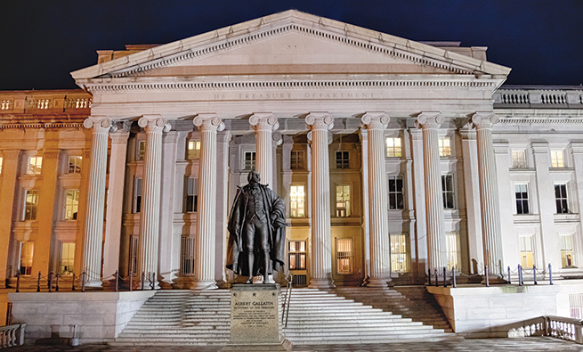 Washington D.C., USA -  Department of the Treasury