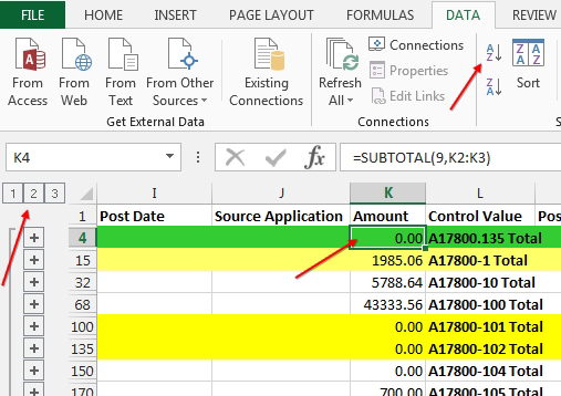 Excel finding journal entries not in balance strategic finance but in this case we dont necessarily care about the 4333356 group our concern is with all of the groups of data that subtotal to 0 by sorting in the ibookread PDF
