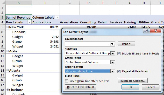 pivot tables excel