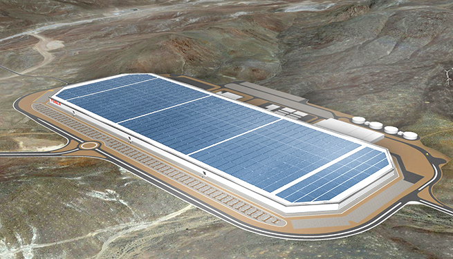 Tesla's Gigafactory on Electric Avenue in Sparks, Nev.