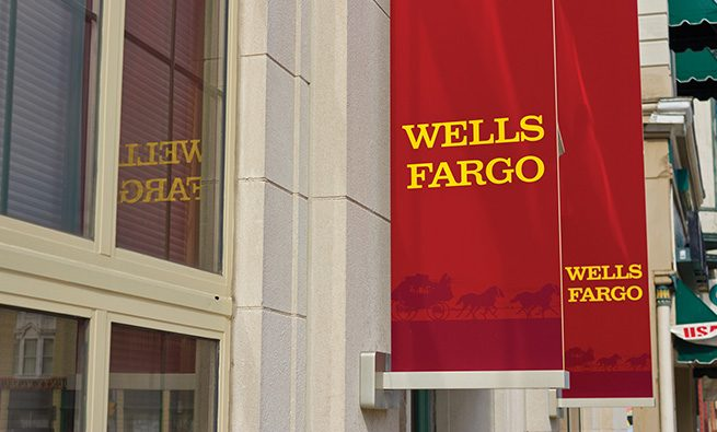 Peru, USA - March 23, 2016: A Wells Fargo Retail Bank Branch. Wells Fargo is a Provider of Financial Services II