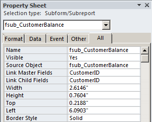 Access: Subform to Display Calculations - Strategic Finance