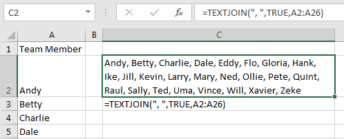 Excel: Using TEXTJOIN with an Array - Strategic Finance